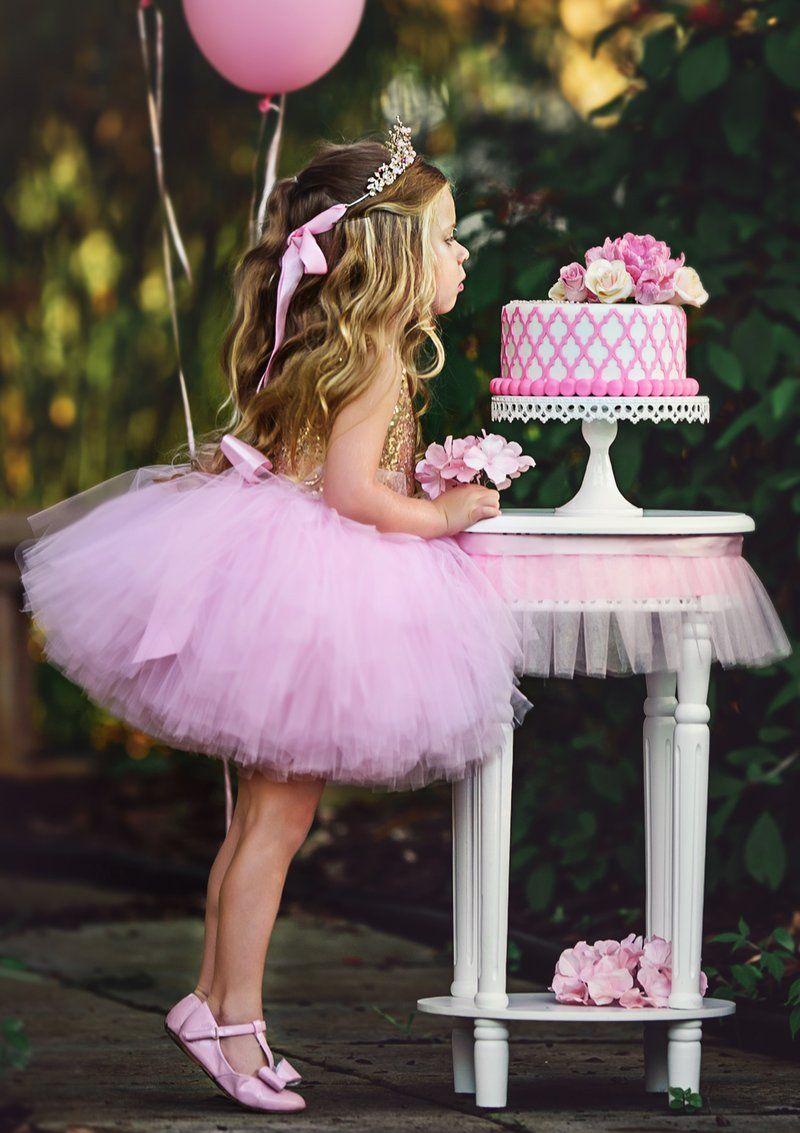 Pink barbie fairytale luxury glitter knee short tutu dress birthday party