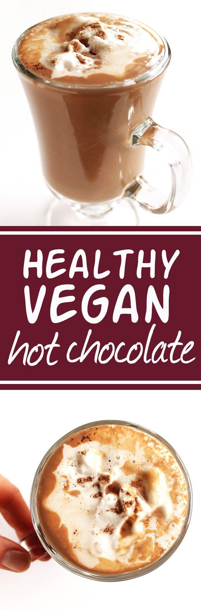 Healthy Vegan Hot Chocolate Recipe Vegan hot chocolate