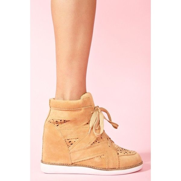 Venice Wedge Sneaker - Tan ($160) ❤ liked on Polyvore
