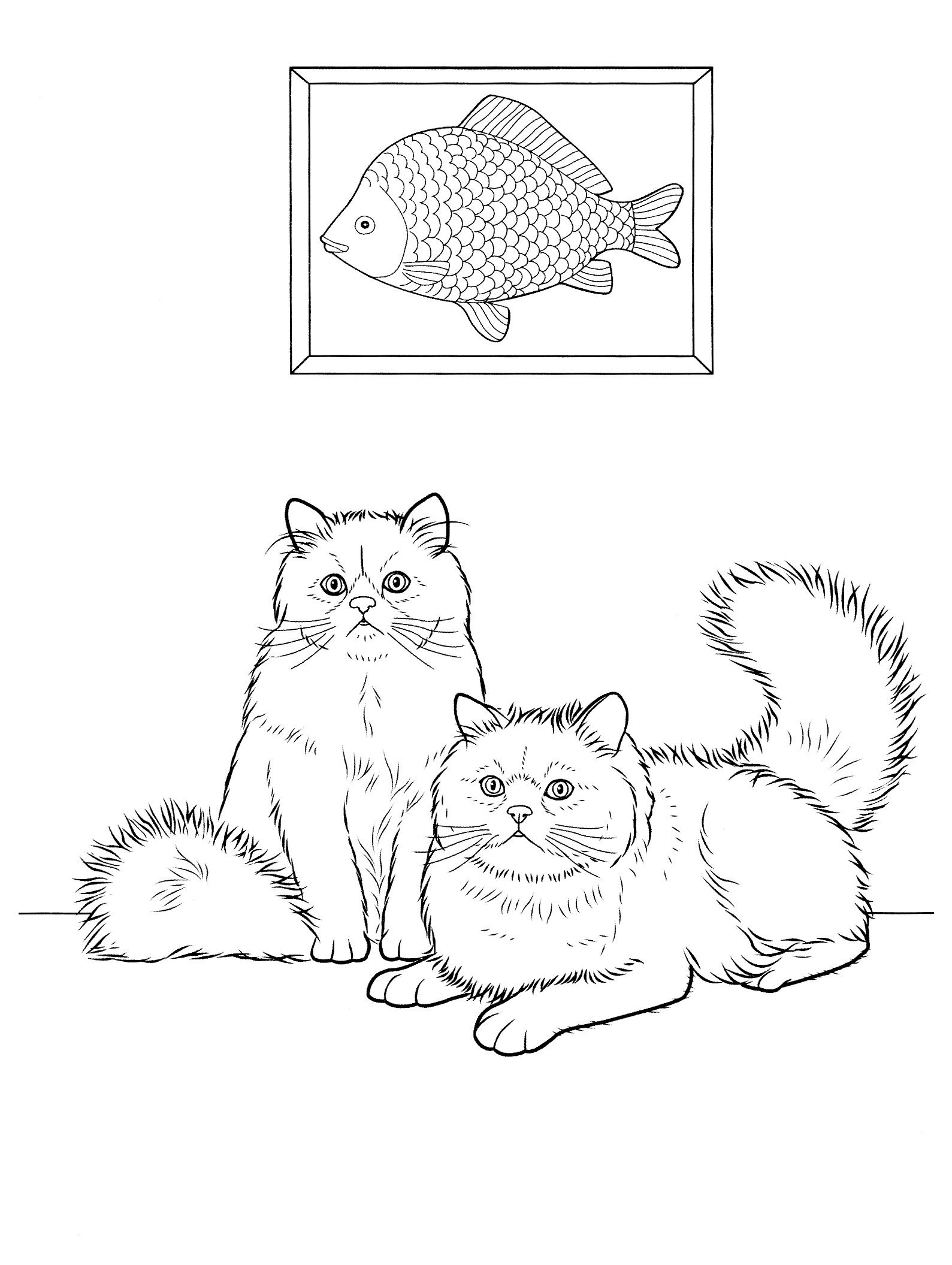 cats_ 23 Cats coloring pages for teens and adults | Puppies and ...