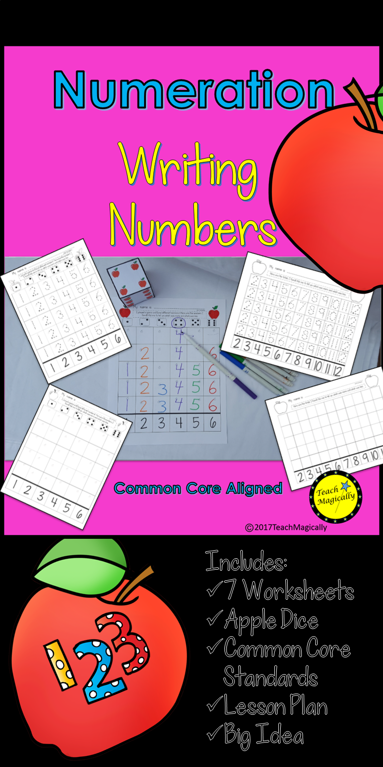 small resolution of Number Writing Practice Number Sense Math Game Apple Theme   Writing  practice