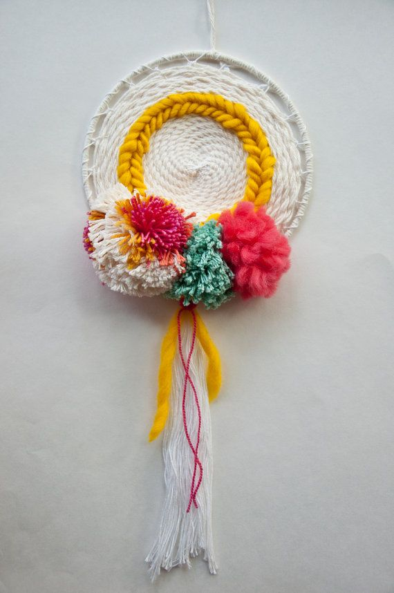 Pom Sunshine | Circle Weave Wall Hanging by The Weaving Loom