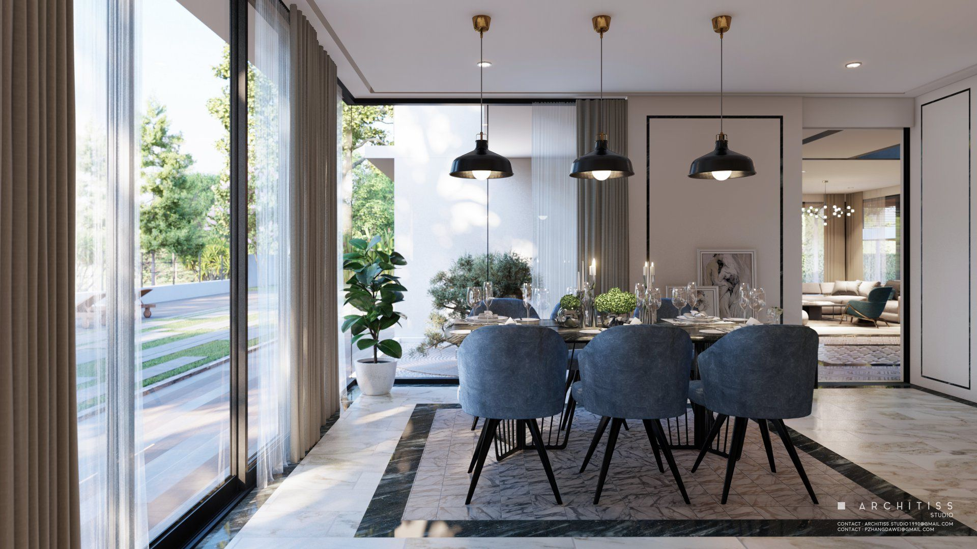 Dining Zone Rendered In Lumion9 By Architiss Baan Khun Lek