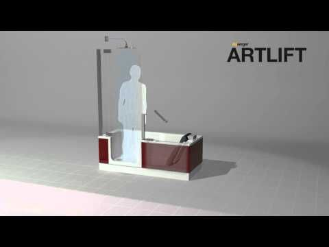 Artweger Artlift Duschen, Baden, Hebesitz YouTube