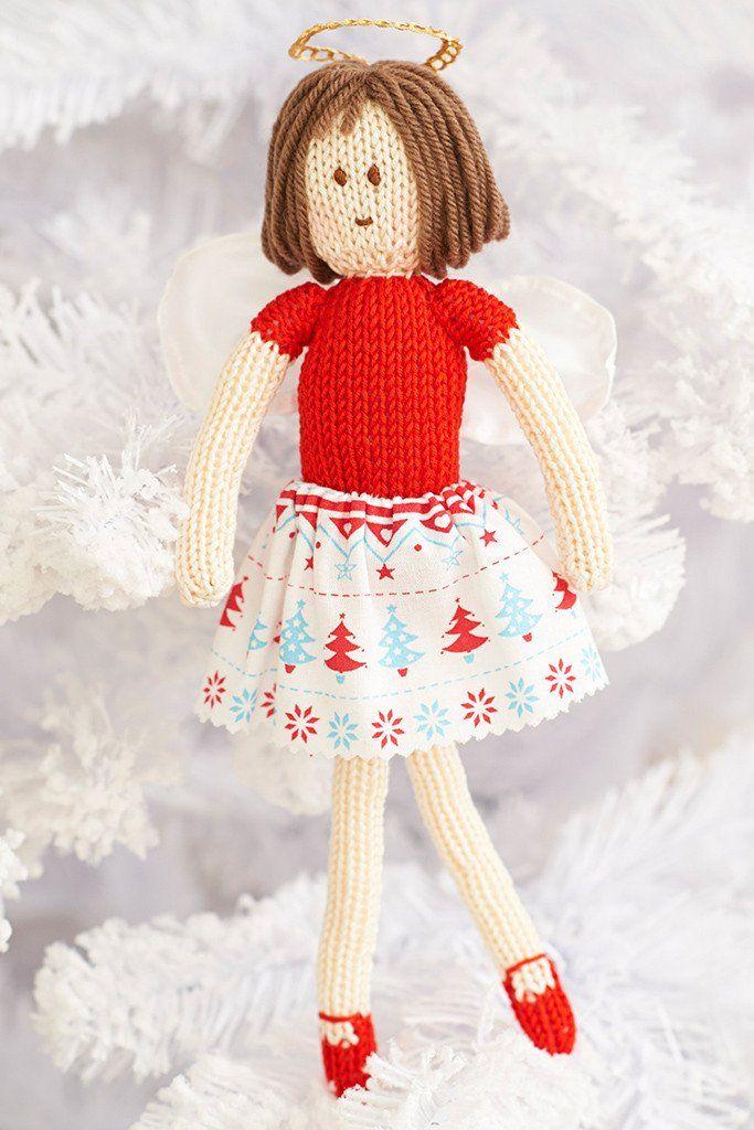 Fairy Christmas Tree Decoration Knitting Pattern   Knitting Patterns ...