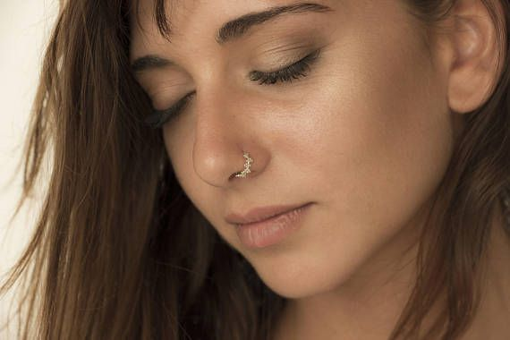 Gold Nose Jewelry Unique Nose Ring Nose Hoop Indian Etsy