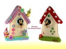 "Door hanger birdhouse ""Villa Zwitscherli"" -- crochet pattern by Haekelkeks -- english version"