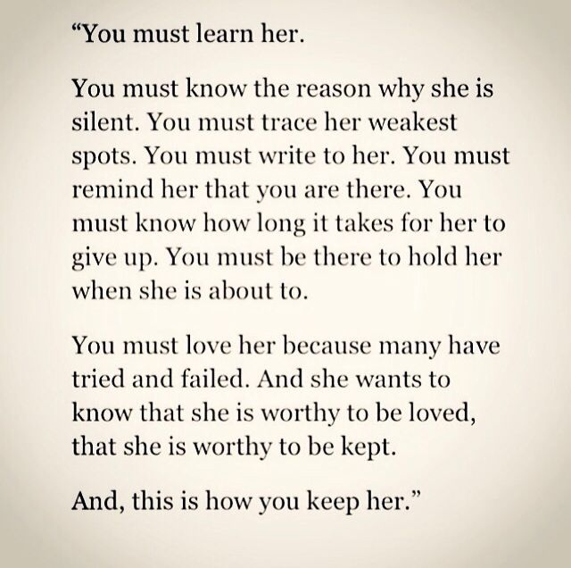 You must learn her to keep her | Words, Quotes, Me quotes