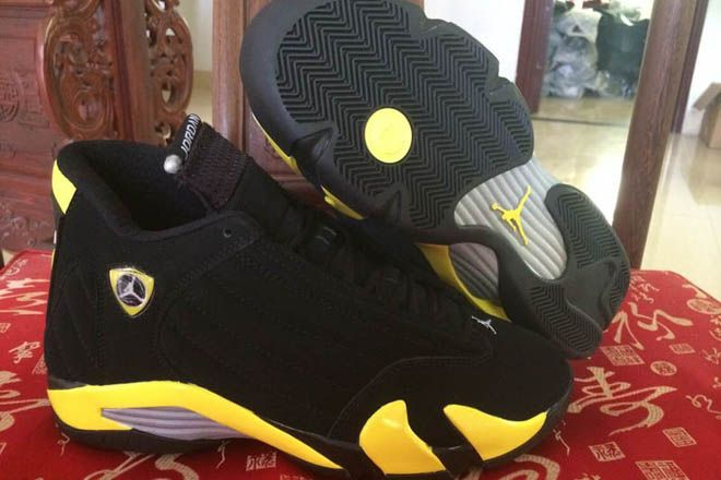 8ed7a6c8c5fe ... best price thunder retro jordan shoes 14 in color vibrant yellow black  white. 11064 3e88b