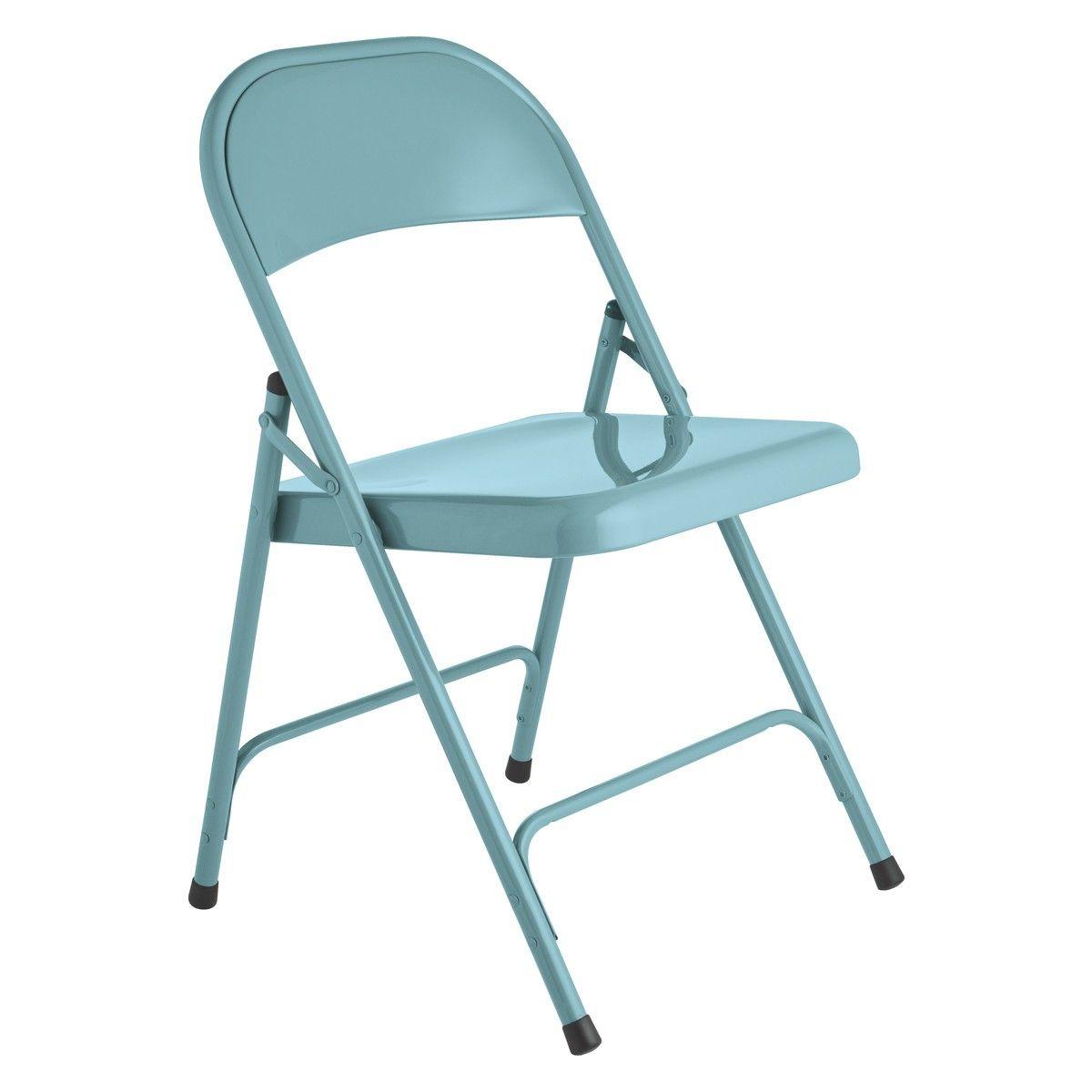 Macadam Blue Metal Folding Chair Metal Folding Chairs