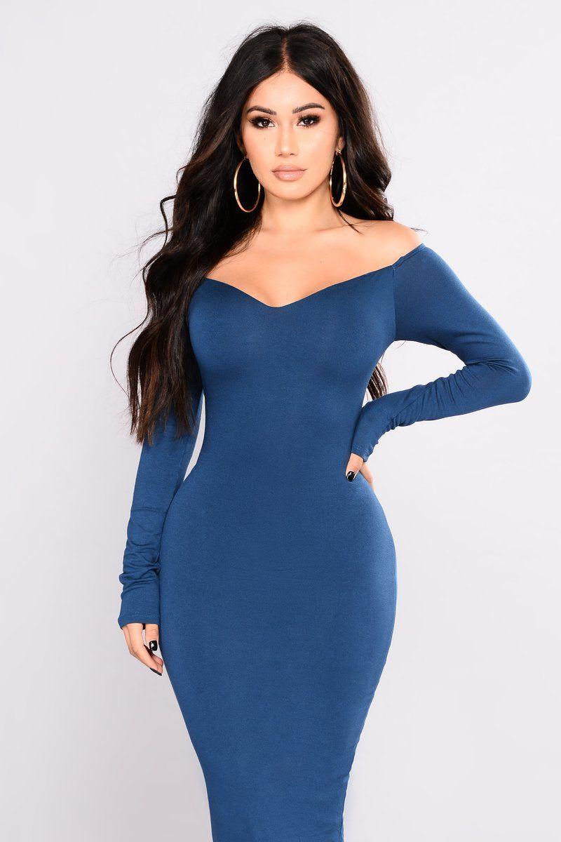96e3ce1a4e5 Janet Guzmán Chloah Off Shoulder Dress - Teal