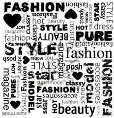 fashion rubber stamps | Fashion Square Deep Etch Rubber Stamp
