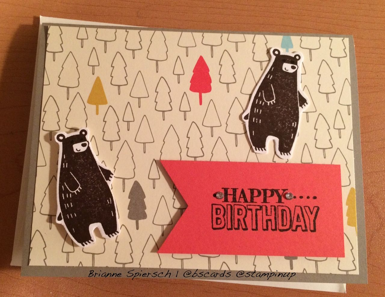 Stampin Up Thankful Forest Friends and Sweet Lil Things DSP