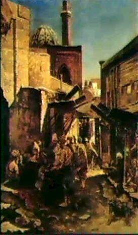 Ferencz-Fransz Eisenhut - Eine arabische Straßenmarkt (1885)