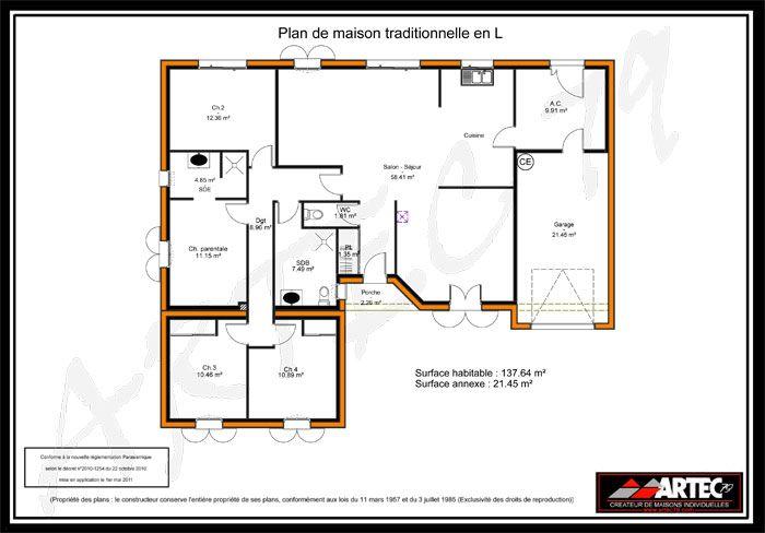 plan maison traditionnelle   plan maison   pinterest   plans