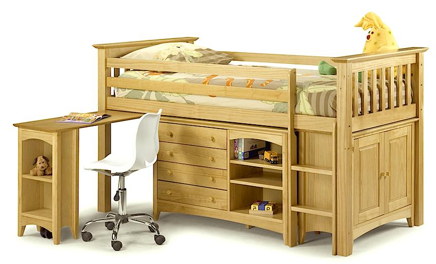 Leo Computer Study Desk Children Kids Bedroom Furniture in Blue Melamine