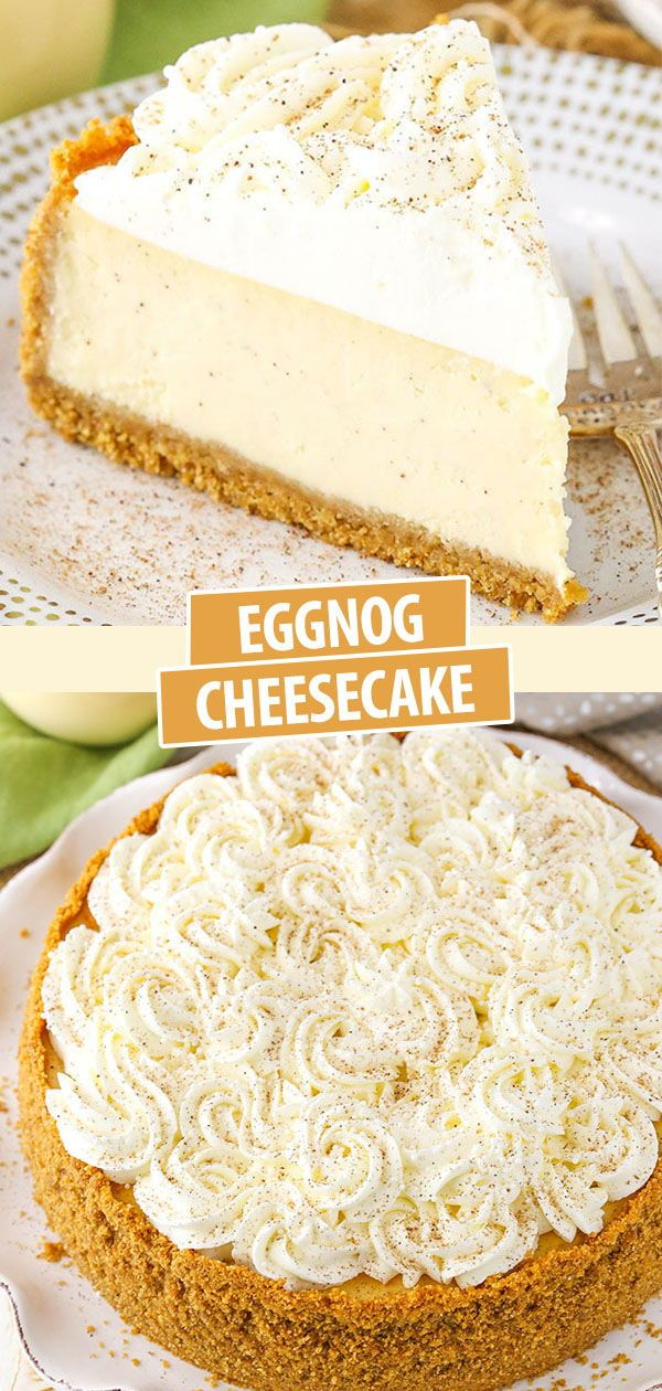 This easy Eggnog Cheesecake recipe is thick creamy and full of eggnog A perfect dessert recipe for the holidays its a delicious way to enjoy one of my favorite drinks of...