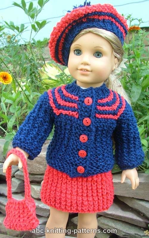 American Girl Doll Vintage Outfit (Cardigan and Skirt) | American ...