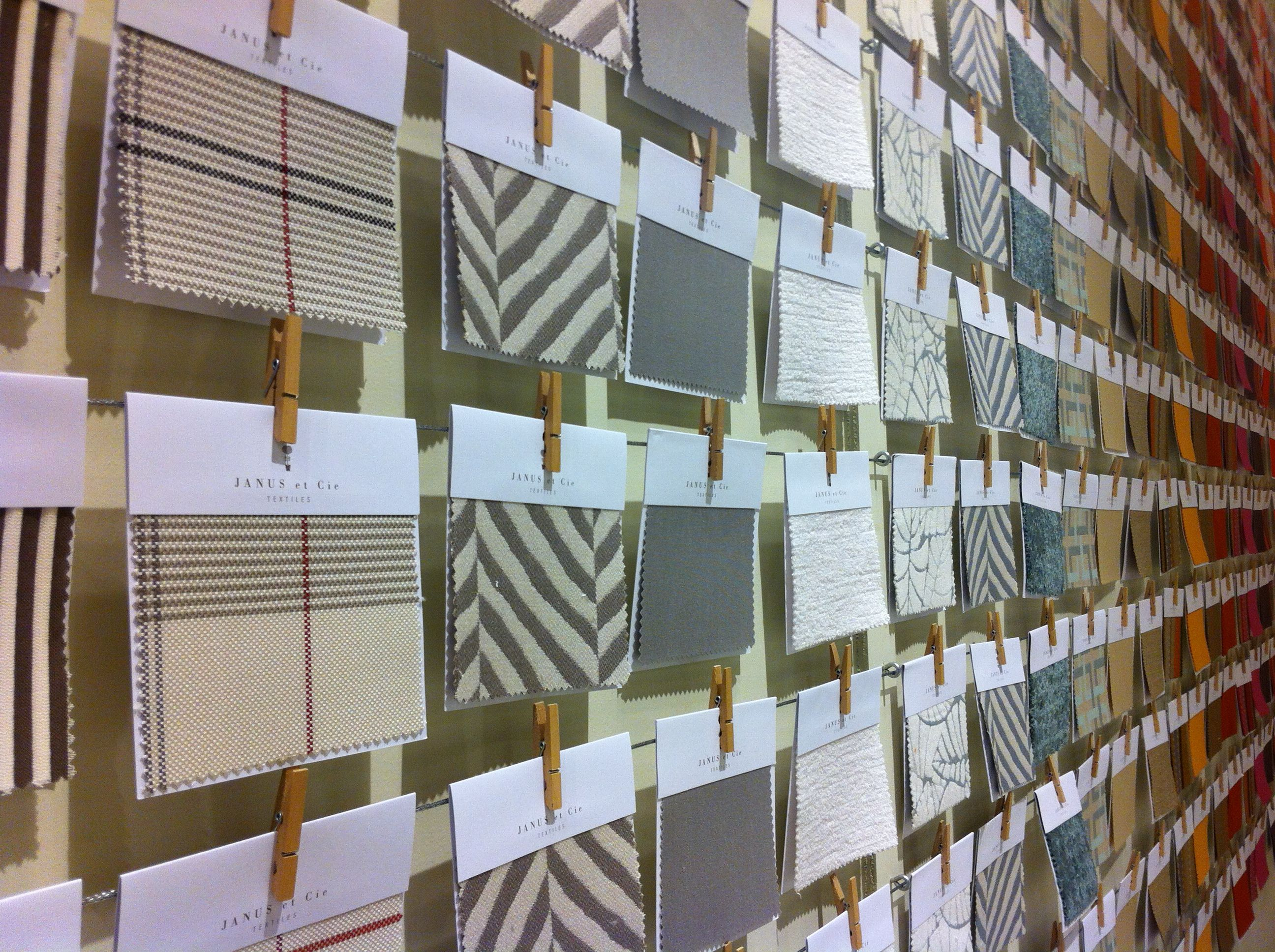 Love The Fabric Swatches At The Janus Et Cie Sf Showroom With