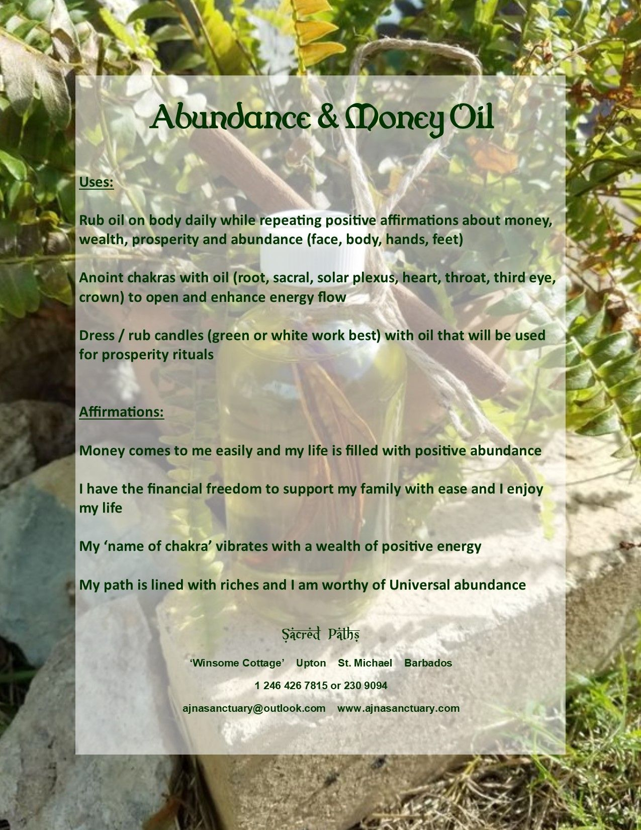 How To Use The Abundance And Money Oil