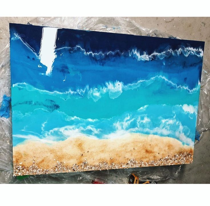 Mar y arena Ahora puedes tener el mar en casa a  epoxy resin