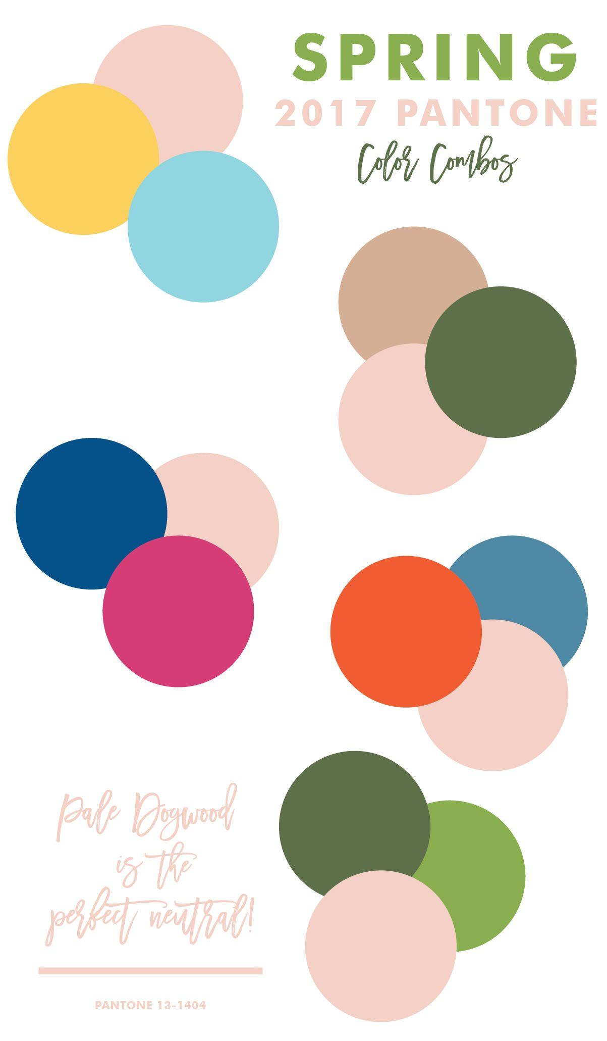 Pantone Pale Dogwood Neutral Color Palettes Spring 2017 Trends