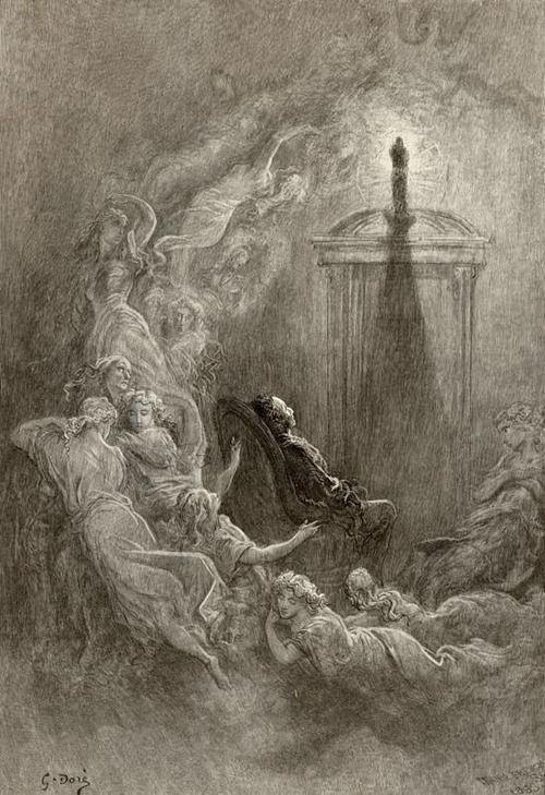 Gustave Dore S Illustration For Edgar Allan Poe S The Raven