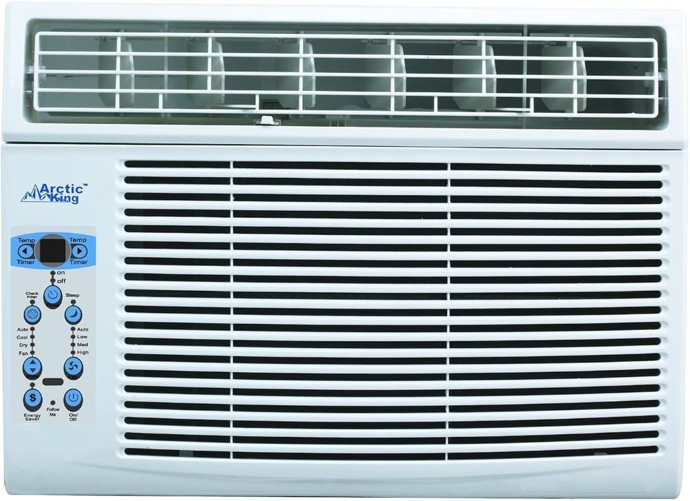 Large Window Air Conditioner Plastic Metal With Remote