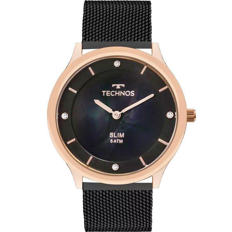 1d126ac76e0 RELÓGIO TECHNOS FEMININO SLIM GL20HI 4P - Relógio Technos Slim feminino com  caixa de aço