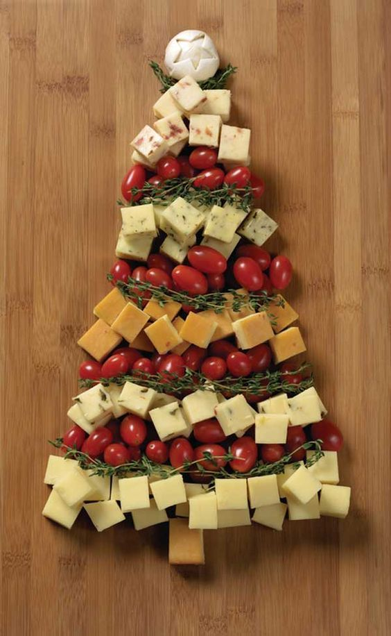 inspirations et idees pour noel christmas tree cheese tray