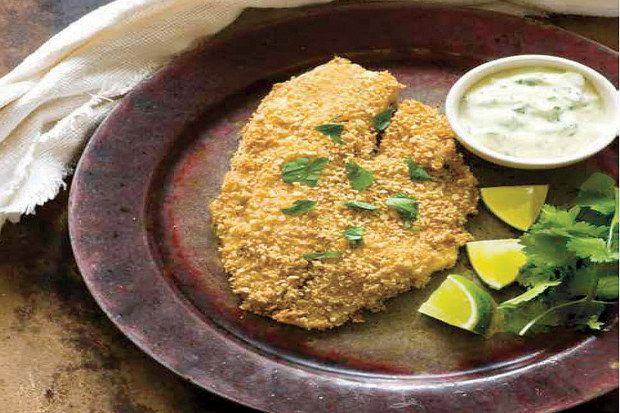 Tortilla-Crusted Tilapia / Lisa Fain