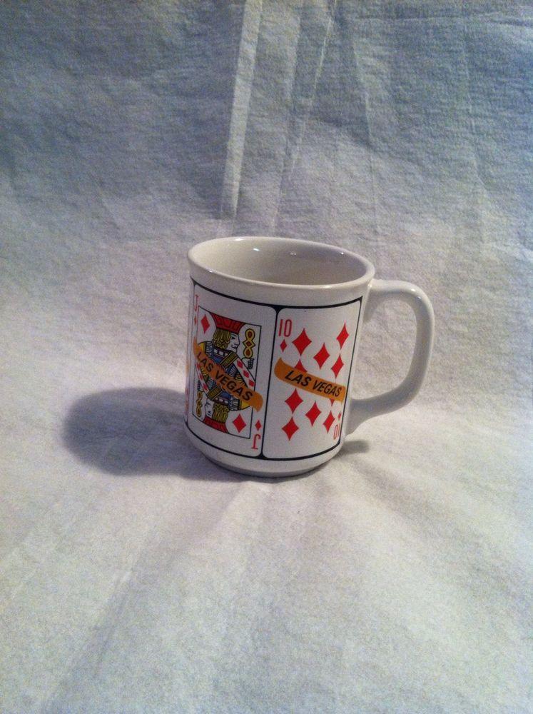 Las vegas coffee cup mug royal flush