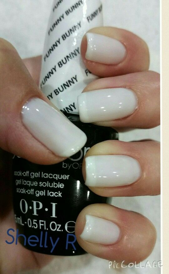 Opi White Gel Nail Polish: OPI Gel Color Funny Bunny French With Orly Gel Pointe