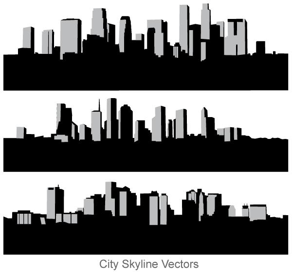 Free City Skyline Vector Art City Skyline Silhouette City Silhouette Skyline Silhouette