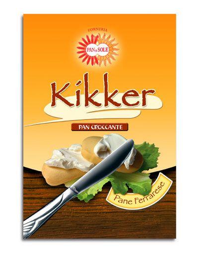Progetto grafico per la nuova confezione dei Kikker del Pan di Sole