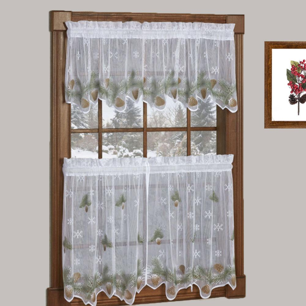 Holly Cutwork Semi Sheer Kitchen Tiers Swag And Valance Valance