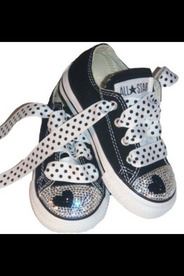 Black Rhinestone Converse April 2017