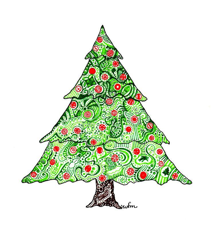 Xmas Tree By Whitney Fawn Maceachern Xmas Tree Xmas Tree