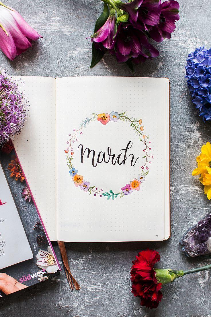 BULLET JOURNAL Setup March 2018