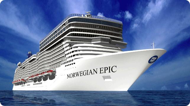 Norwegian Epic é o terceiro maior navio de cruzeiro do