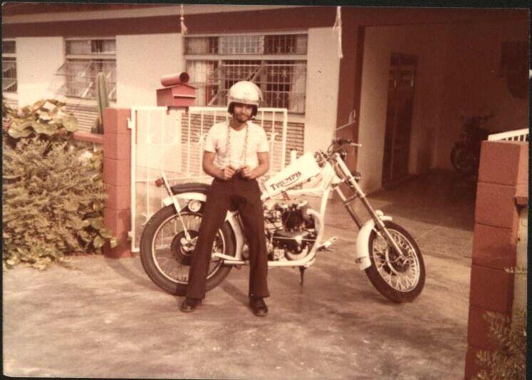 1953 triumph sprung hub.Photo taken in 1978