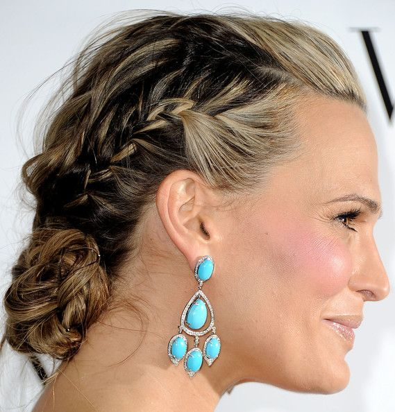 French braids with plaited bun