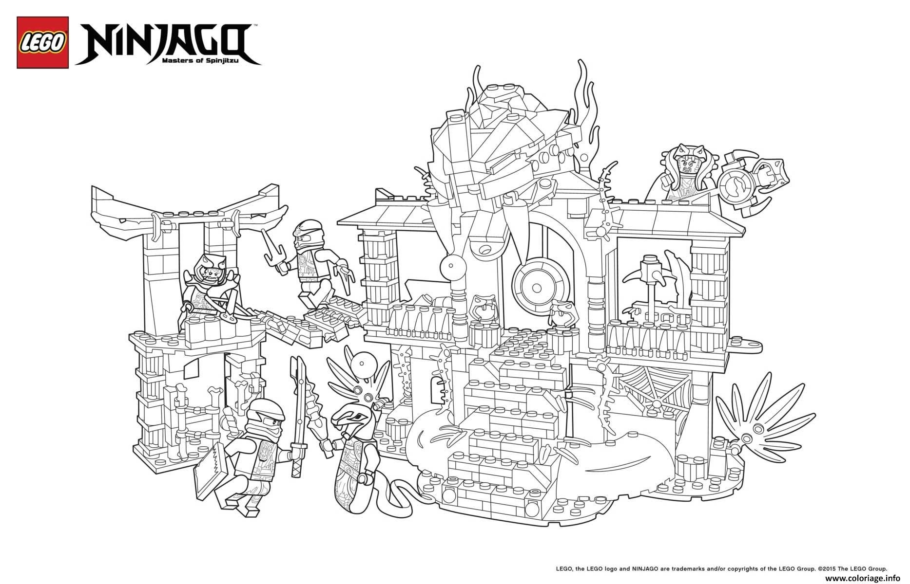 Coloriage le palais de ninjago lego Dessin à imprimer  Coloriage