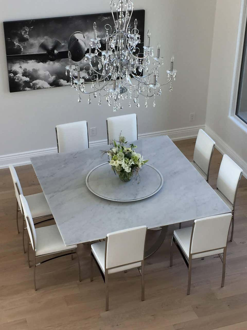 Dining Square Table White Marble Steel Italian Contemporary Design In 2021 Square Dining Room Table Square Dining Table Designs Dining Table Marble