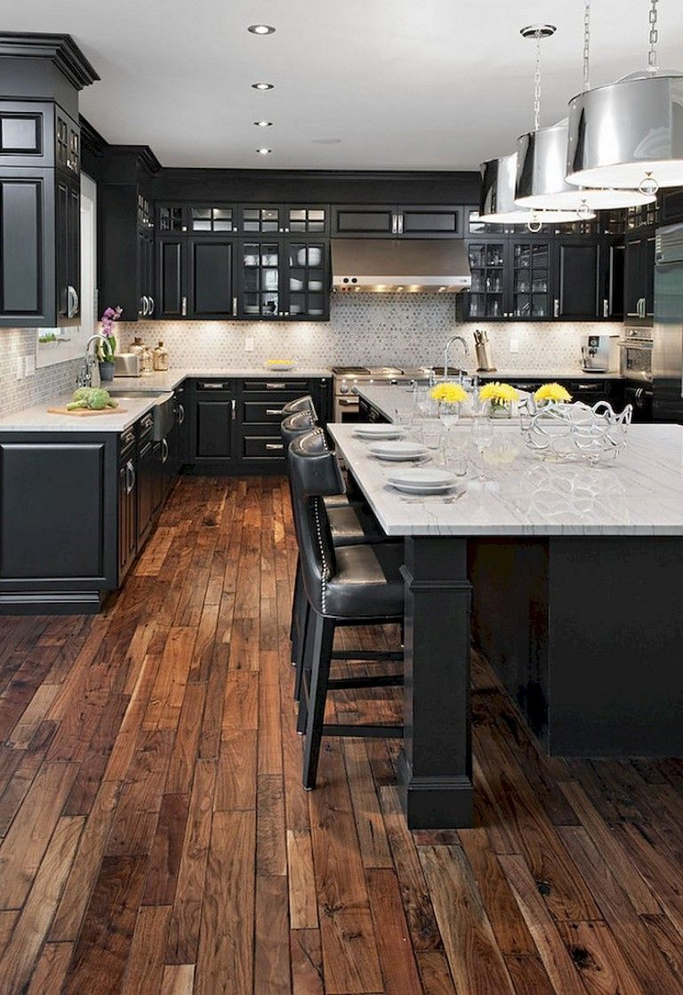 55+ BLACK KITCHEN CABINETS DESIGN - Page 19 of 63 | Rustic ...