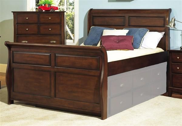 Pepper Creek Wood Twin Sleigh Bed Trundle Not Included Twin