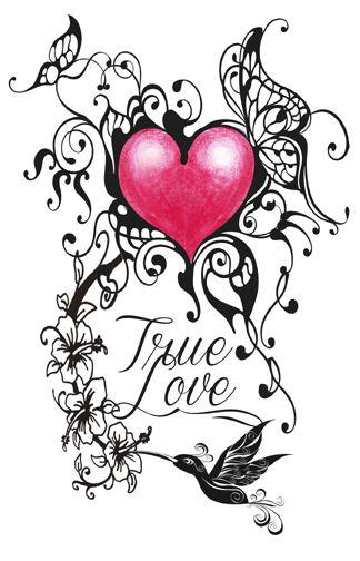 Tribal True Love Tattoo True Love Tattoo Love Heart Tattoo Heart Tattoo Designs