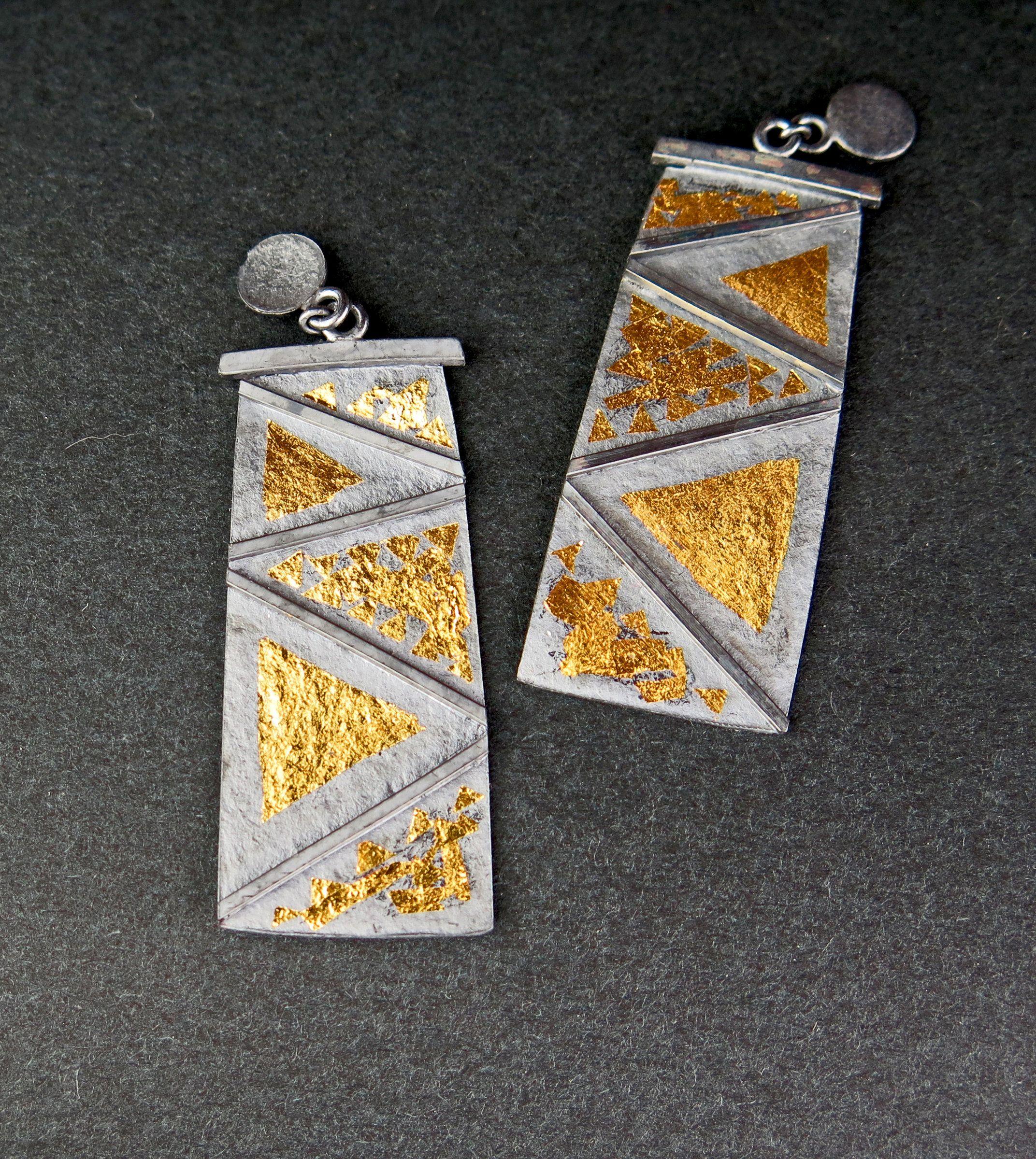 6b57a944ff853 Native Dancer Earrings by Marcia Meyers - (Gold & Silver Earrings ...