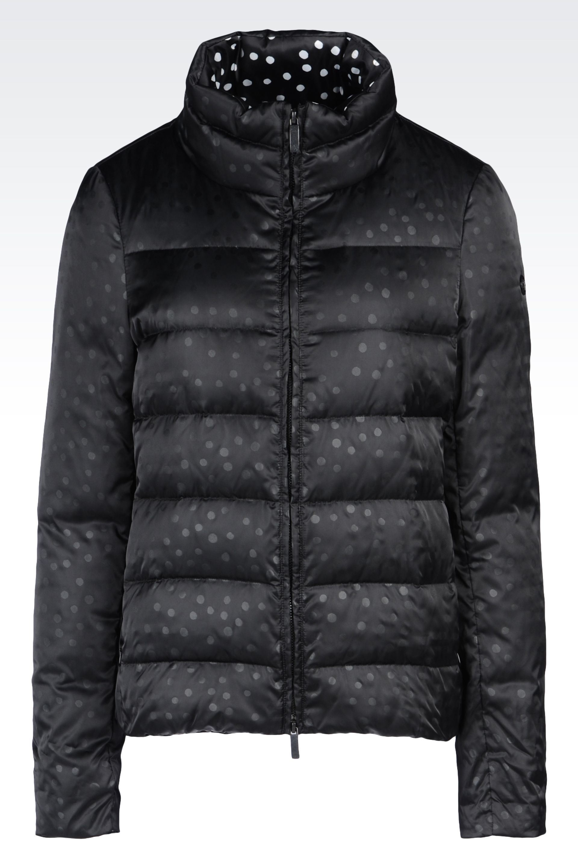 6e6d6f1a DOWN JACKET IN PRINTED NYLON: Down coats Women by Armani - 0 ...