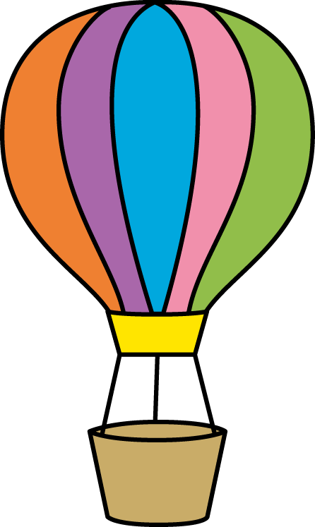 colorful hot air balloon small borders pinterest hot air rh pinterest com hot air balloon clip art color sheets hot air balloon clipart